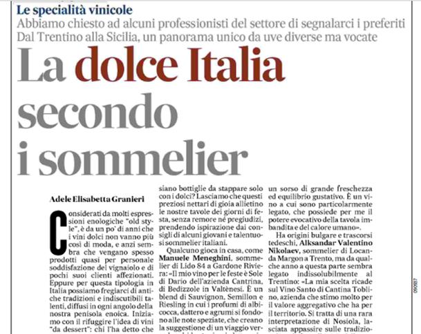 Cantrina - La dolce Italia secondo i sommelier